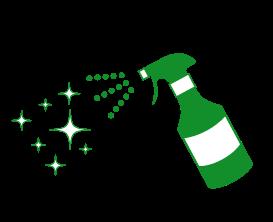 店内のアルコール消毒